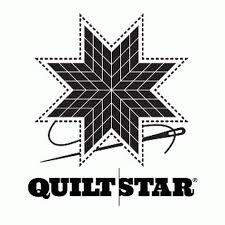 Quilt Star White Vinyl Window Decal Heartbeat Quilting