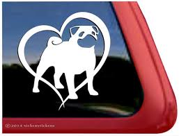 Pug Dog Decals Stickers Nickerstickers