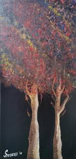 Twins Painting by Adrian Stevens