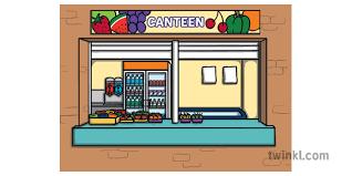 Australian School Canteen Illustration - Twinkl