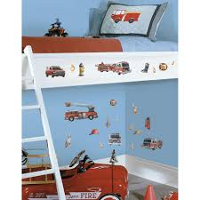 Roommates 10 In X 18 In Fire Brigade 22 Piece Peel And Stick Wall Decals Rmk1125scs The Home Depot