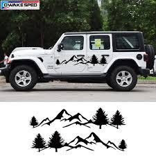 Jungle Mountain Adventure Off Road Graphic Vinyl Decal Auto Body Side Door Car Sticker For Jeep Wrangler Rubicon Sahara 4 Doors Car Stickers Aliexpress