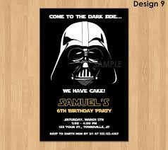 Darth Vader Invitation Star Wars Birthday Invitation Star By
