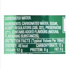 sprite soft drink lime flavoured 300ml