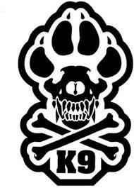 Amazon Com Milspec Monkey K9 Vinyl Decal Swat Black Sports Outdoors