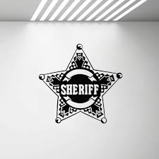 Star Law Sheriff Badge Police Wall Stickers Mural For Kids Rooms Removable Boy Gift Vinyl Decals Home Decor Bedroom Sticker G460 Wall Stickers Aliexpress