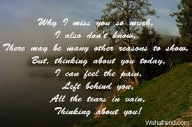 why i miss you so much thinking of