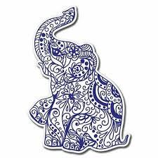 Elephant Henna Exotic Jpg Car Vinyl Sticker Select Size 3 89 Picclick