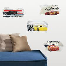 Cars 3 Racing Peel And Stick Wall Decals Roommates Decor