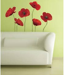 Roommates Poppies At Play Peel And Stick Giant Wall Decals Wall Decor Stickers Amazon Com