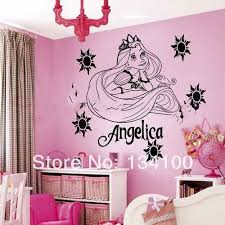 Customer Made Personalized Name Princess Rapunzel Tangled Wall Sticker Decal Mural Vinyl Kids Room You Choose Name And Color Sticker Notebook Stickerroom Wall Sticker Aliexpress
