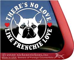 French Bulldog Decals Stickers Nickerstickers