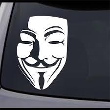 3 Pack V For Vendetta Guy Fawkes Mask Permanent Vinyl Decal Sticker Ebay