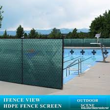 Ifenceview 4 X5 To 4 X50 Green Shade Cloth Fence Privacy Screen Fabric Mesh Net For