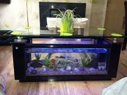 elite black fish tank coffee table