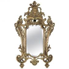mirror table in antique bronze 19th