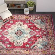 mistana tibbetts oriental pink area rug
