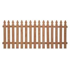 42 In X 8 Ft Cedar 2 Rail French Gothic Spaced Picket Fence Panel
