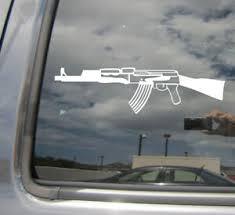 Ak47 Kalashnikov Rifle Auto Window High Quality Vinyl Decal Sticker 09022 Ebay