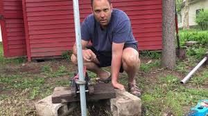 An Easy Way To Remove Metal Fence Posts Using Items You Likely Already Own Youtube