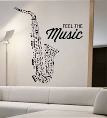 Saxophone Wall Decal Vinyl Sticker Art Decor Bedroom Design Etsy Vinyl Wall Decals Music Wall Stickers Music Wall Decal