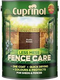 Cuprinol Less Mess Fence Care Rustic Brown 5l Amazon Co Uk Kitchen Home