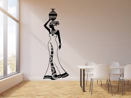 Vinyl Wall Decal Beautiful Woman With Jug African Africa Ethnic Style Wallstickers4you