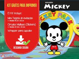Mickey Mouse Invitaciones Para Imprimir