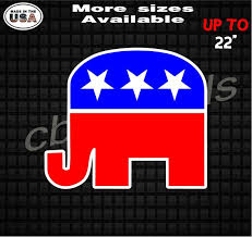 Republican Elephant Vinyl Decal Stickers Republican Party Etsy