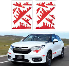 Amazon Com Tomall 2 Sheets 14pcs Red Blood Stickers For Car Funny Halloween Theme Bleeding Decals For Car Self Adhesive Stickers For Car Headlights Window Headlamp Taillight Car Decal Decoration Kitchen Dining