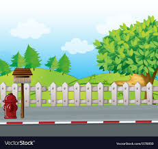 A Letter Box And A Fire Hydrant Royalty Free Vector Image