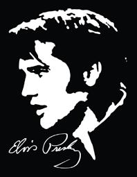 Elvis W Signature Vinyl Decal Sticker Texas Die Cuts