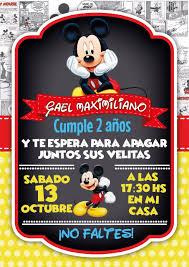 Invitacion Mickey Mouse Festa Mickey Convite Mickey