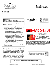 alpha 36 manual kozy heat fireplaces