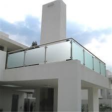 Exterior Tempered Glass Balcony Terrace Deck Baluster Railing Design