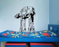 Star Wars Wall Decals At At Walker Vinyl Sticker Decal Fighter Wall De Ellaseal