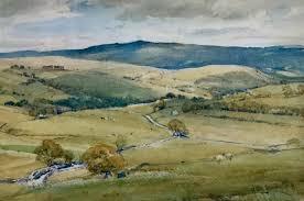 Arthur Reginald Smith Watercolour ' The Road To Burnsall North ...
