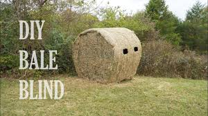 how to build a diy hay bale blind you