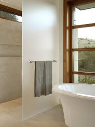 bathroom partition glass on bathroom