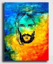 PIXELARTZ Canvas Painting - Abstract Painting Of Jesus (28 X 35) - Without Frame Digital Reprint 35 inch x 28 inch Painting Price in India - Buy PIXELARTZ Canvas Painting - Abstract