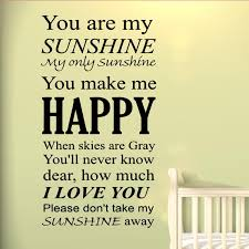 Vwaq You Are My Sunshine Wall Art Vinyl Decal Nursery Wall Quotes Large Kids Room Sayings Babys Room Angel Stickers Big Murals Walmart Com Walmart Com
