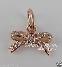sparkling bow genuine pandora rose gold