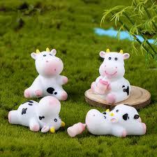 kawaii cow figurine mini fairy garden