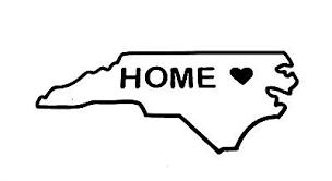 Nc North Carolina State Outline Heart Home Vinyl Decal Sticker Car Truck 75117 Ebay