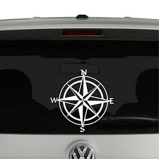 Compass Nautical Hiking Vinyl Decal Sticker Cosmic Frogs Vinyl