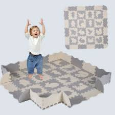 36pcs Baby Play Mat With Fence Interlocking Foam Floor Tiles With Crawling Mat Ebay