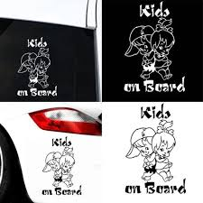 Vova Kids On Board Cute Cartoon Child Car Vehicle Reflective Decals Sticker Decor