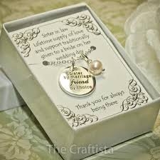 sister of the groom necklace sil