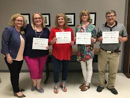Arkansas Department of Education - McCrory School District educators  Heather Hite (EAST facilitator), Carla Reynolds (5th grade math and  science), Ava Simmons (elementary counselor) and R. Byron Hurford  (vocational agriculture) were shown