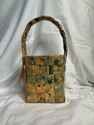 UNIQUE COLLECTIBLE HANDMADE DECORATIVE POLLY HARRISON BASKET COMIC PAPERS |  eBay